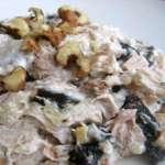 салат с куриной грудкой с грибами
