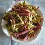 Салат немецкий с колбасой или ветчиной