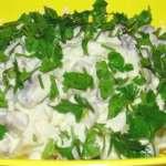Простой салатик из шампиньонов