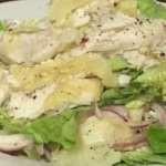 Салат из отварного судака