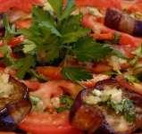 салат из баклажанов с помидорами