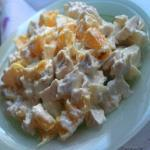 Салат из курочки и апельсинов