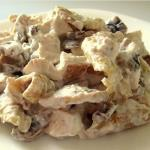 белковый салат с курицей