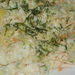 Простой салат из репы