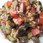 Салат с баклажанами и помидорами